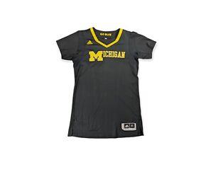 Michigan Wolverines Sleeved Blue Adidas Team Issue Blank Jersey sz XL Rev 30