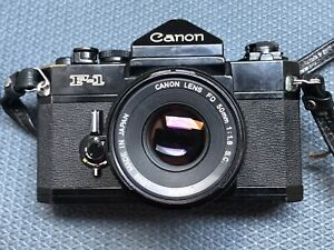 Canon F-1 Film SLR Camera With 50mm f1.8 Lens - Light Seals Replaced