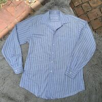 Joseph & Feiss Men's Size 16 (34/35) Non-Iron Fitted Striped Button Down Shirt