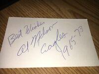 Al Nelson 1965 Philadelphia Eagles Signed 3x5 Index Card
