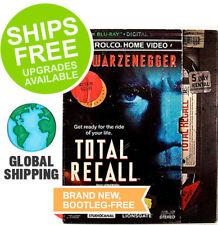 Total Recall (Blu-Ray + Digital, 2018) NEW, Retro VHS Slipcover, Schwarzenegger