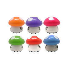 Ritzy Cute Mini Mushroom Corner Desk Table Dust Vacuum Cleaner Sweeper Unique