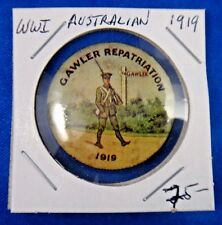 Original WWI WW1 Military1919 Australian Gawler Repatriation Pin Pinback Button