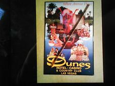 VEGAS DUNES POSTER NEVADA AERIAL VINTAGE HOTEL COUNTRY CLUB GOLF CHIP HISTORY
