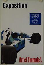 Affiche Exposition ART et FORMULE 1 - Grand Prix de Monaco 1993