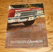 Original 1966 Chevrolet Full Size Car Deluxe Sales Brochure 66 Chevy Impala