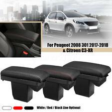 1x Center Console Armrest Storage Box For Peugeot Citroen C3-XR 2008 301 2017-18