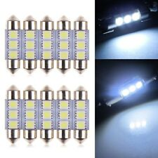 10 PCS 3 LED 36mm 5050 SMD C5W Bombillas Coche Festoon Blanco