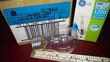 8 X GE Halo a 70w E27 240v Clear GLS Capsule Light Bulb Lamp Code 79423 Job Lot