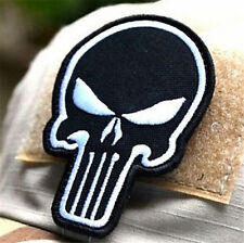 Black DIY Punisher Skull USA Military Army Tactical Morale Badge Patch ☆