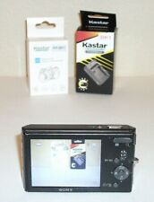 Sony Cyber-shot DSC-W180 10.1MP Digital Camera-Black-w/ Charger and 2 Batteries