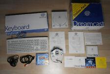 Sega Dreamcast + Spiel + Tastatur + Kabel und Controller in OVP