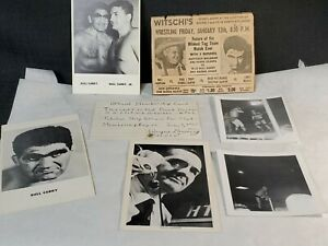 Vintage Wrestling B&W Press Photos Neat Collection