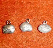 Antique Silver-tone 1 Each Dream, Spirit & Joy Charms / Findings 15 mm x 12 mm