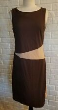 EXPRESS BROWN DRESS 14 sleeveless classy formal night out conservative cocktail