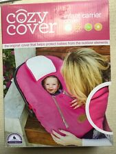 Cozy Cover Infant Carrier Cover Fleece Protect From Outdoor Elements, Pink New