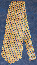 J.S. Blank COLLECTION Gold/Yellow/Blue Geometric MEN'S NECK TIE, !FREE SHIPPING!