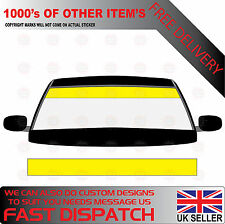 GLOSS YELLOW WINDSCREEN SUNSTRIP 2000mm x 190mm VAN DECALS GRAPHICS STICKERS