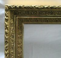 "ANTIQUE FITS 12.1"" X 20.1"" GOLD GILT ORNATE WOOD FRAME FINE ART VICTORIAN"