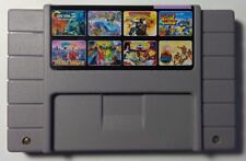 SNES Contra III Sunset Riders Double Dragon Pirates Dark Water Battletoads 8in1