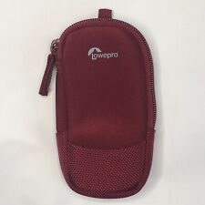 NEW Lowepro Red Compact Digital Camera Pouch soft bag with Tripod Socket Screw