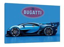 Bugatti Veyron Gran Turismo 30x20 Inch Canvas - Framed Picture Poster Print Art