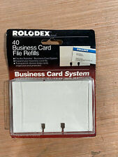 Rolodex 40 Business Card File Refills Fits 2 58x4 In