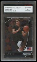 LAMELO BALL 2020-2021 PANINI PRIZM 1ST GRADED 10 ROOKIE CARD CHARLOTTE HORNETS
