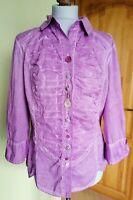 Ladies BOTTEGA by Elisa Cavaletti Purple Blouse/Shirt , Size L ,VGC !