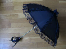 Gothic Lolita Lace Umbrella Parasol Punk EGL Victorian Cosplay Goth Pop Black