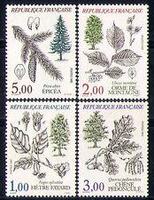 FRANCIA 1985 ALBERI/PIANTE/NATURA/Fiori/Frutta 4v n31028
