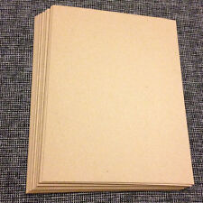0.030 Chipboard 8.5x11 - 20 Sheets medium weight for crafts scrapbook shipping