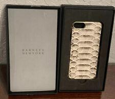 Genuine BARNEYS NEW YORK Leather Snake Skin Gold Iphone 7/8 Case Retail $138.99