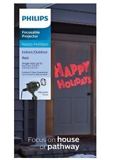 Philips LED Focusable Projector Happy Holidays Christmas Pathway Light