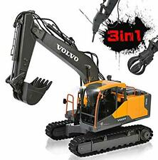 DOUBLE E RC Excavator Construction Truck 17 Channel 1/16 Scale Truck Digger Toy