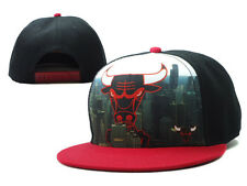 Brand New  Chicago Bulls Downtown View Snapback Hat Black/ Red
