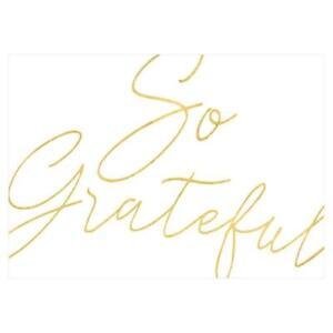 Caspari Thank You Notes, So Grateful Foil, Pack of 8 (88617.44)