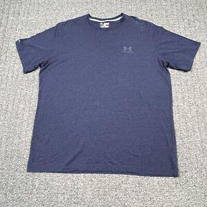 Under Armour Men's  Size XXL 2XL Charged Cotton T-Shirt Blue Short Sleeve