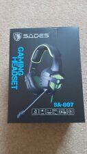 SADES SA-807 Gaming Headset Headphones Earphones With Microphone - NEW