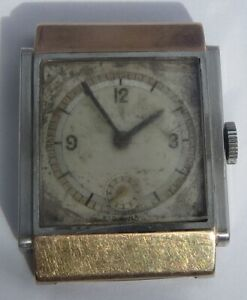 RARE GENTS VINTAGE ROLEX STEEL/GOLD PRINCE ART DECO 1872 WRISTWATCH  c.1940