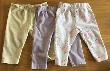 Set Of 3 Baby Girls Leggings Size 3-6 Months