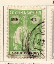 Cape Verde 1926 Early Issue Fine Used 20c. 080395