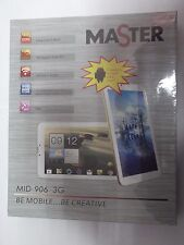 "MASTER MID 906 3G TABLET DUAL CORE 1.3Ghz DUAL SIM WIFI 8GB GPS 9"" BIANCO/SILVER"