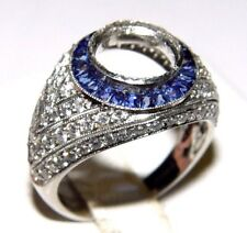 SOPHIA D Semi Mount Engagement Ring Diamond and Sapphire PT-950 Ring s-7