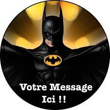 Batman  Decoration Gateau Disque Azyme Comestible Anniversaire