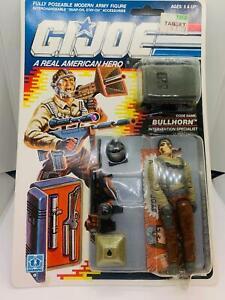 Vintage GI JOE - ACTION FIGURE 1989 BULLHORN CARDED