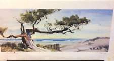 Limited Edition Watercolor Print by Al Stine - 296/1000 - 'Wind Sculpture'