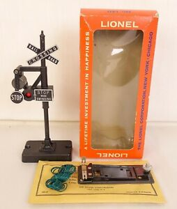LIONEL #140 POSTWAR OPERATING BANJO SIGNAL WITH CONTACTOR & WIRING-LN IN OB!
