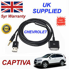 CHEVROLET CAPTIVA OX0467904 3GS 4 4S iPhone iPod USB & Aux Audio Cable black