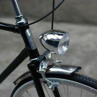 Vintage Retro Bicycle Bike 3 LED Front Light Lamp Headlight Headlamp + Bracket